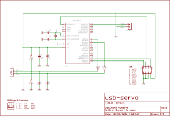 The circuit contains only a few standard components. There's no special USB-chip involved.