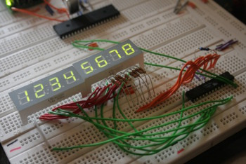 Test circuit on breadboard