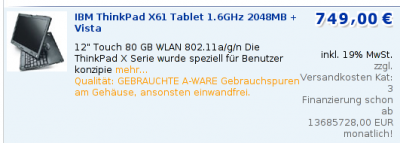 Notebook bei Harlander
