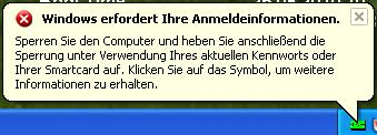 Windows erfordert Ihre Anmeldeinformationen