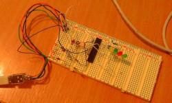 USB-LED-Fader auf Steckbrett