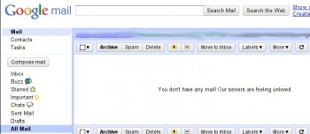 Google Mail ist traurig